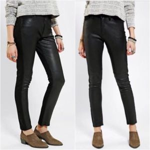 COURTSHOP X BDG | Black faux leather jeans Size 31
